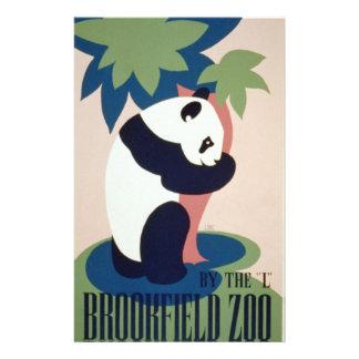 Vintage de WPA - parque zoológico Flyer A Todo Color