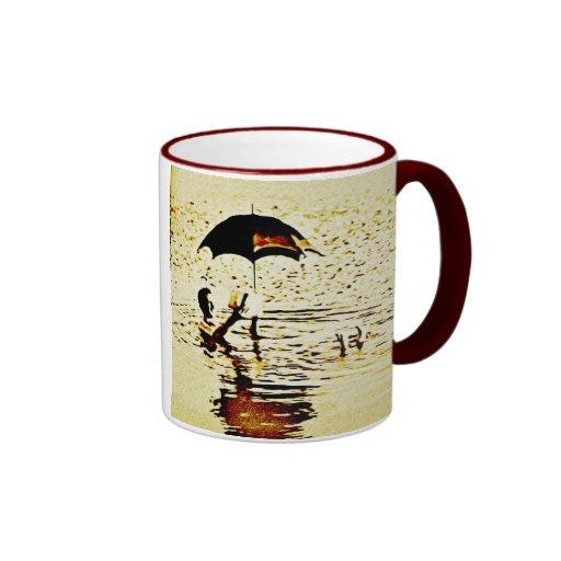 Vintage Dead Sea Umbrella Ceramic Mug