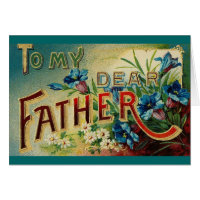 Vintage Dear Father Card