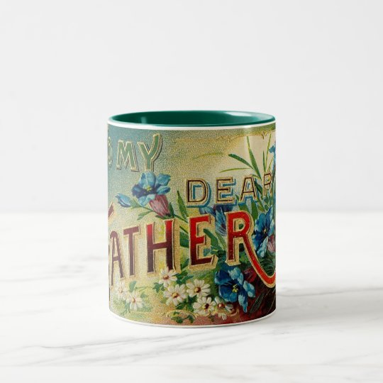 Vintage Dear Father Two-Tone Coffee Mug