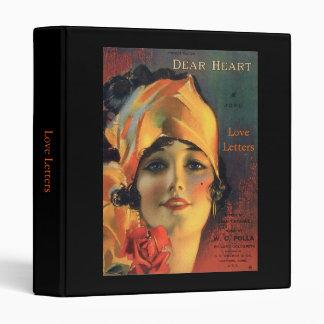 Vintage Dear Heart 3 Ring Binder