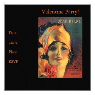Vintage Dear Heart Invitation