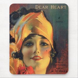 Vintage Dear Heart Mouse Pad