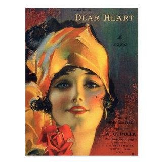Vintage Dear Heart Postcard