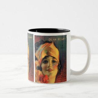 Vintage Dear Heart Two-Tone Coffee Mug