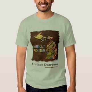 Vintage Dearborn: License Plate Map Tshirt