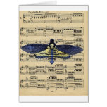 Vintage death moth music sheet mixed media