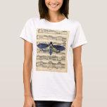 Vintage death moth music sheet mixed media T-Shirt