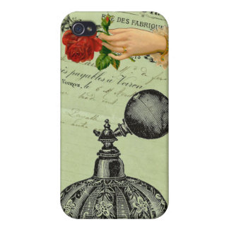 Vintage Decadent French Chic Perfume Bottle iPhone 4 Case
