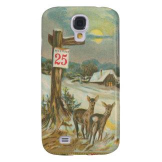 Vintage December 25th Deer Samsung Galaxy S4 Case