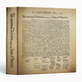 Vintage Declaration of Independence Binder