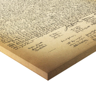 Vintage Declaration of Independence Canvas Print