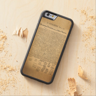 Vintage Declaration of Independence Carved Maple iPhone 6 Bumper Case
