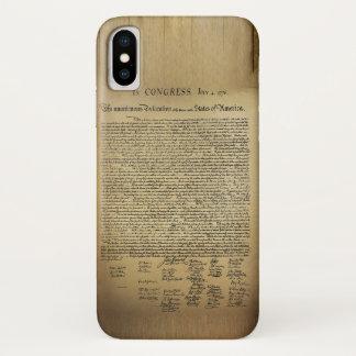 Vintage Declaration of Independence iPhone X Case