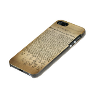 Vintage Declaration of Independence Metallic Phone Case For iPhone SE/5/5s