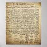 """Vintage Declaration of Independence Poster<br><div class=""""desc"""">Antique looking Declaration of Independence Poster.</div>"""