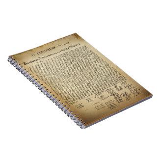 Vintage Declaration of Independence Spiral Notebook