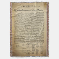 Vintage Declaration of Independence Throw
