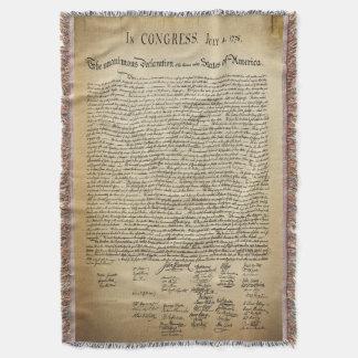 Vintage Declaration of Independence Throw