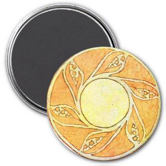 Vintage Deco 3 Inch Round Magnet