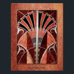 """Vintage Deco Art Poster<br><div class=""""desc"""">I have taken this vintage Deco art and framed it with copper and a light copper background. This makes a great poster that could used at a venue. It could also be framed to make a lovely print for your room. Choose the size you want from the side menu. Can...</div>"""