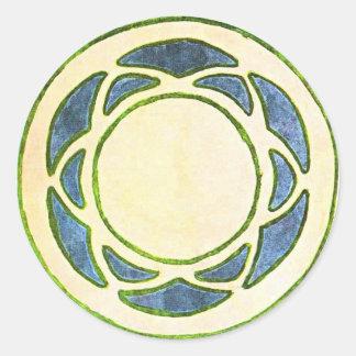 Vintage Deco Classic Round Sticker
