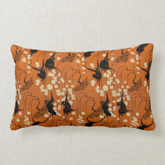 Vintage Deco Moderne Monkeys Lumbar Pillow