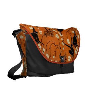 Vintage Deco Moderne Monkeys Messenger Bag