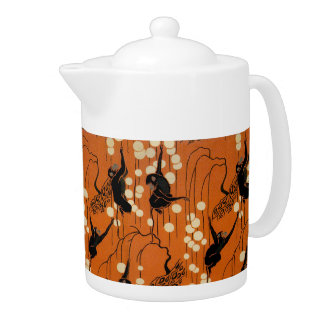 Vintage Deco Moderne Monkeys Teapot