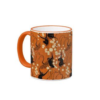 Vintage Deco Monkey Pattern Mug