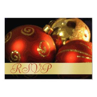Vintage Decorations Holiday Gold RSVP Invitation