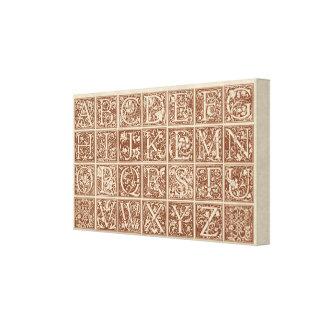 Vintage Decorative Alphabet Canvas Print