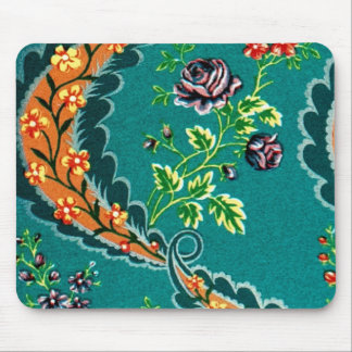 Vintage Decorative Colorful French Floral Mouse Pad