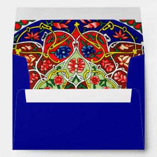 Vintage Decorative Design and Royal Blue Envelope
