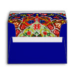 Vintage Decorative Design and Royal Blue Envelopes