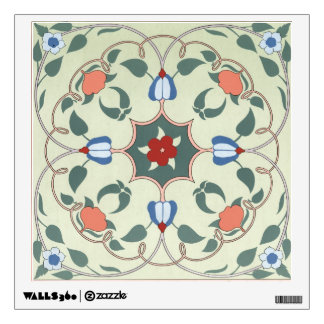 Vintage Decorative Floral Pattern Wall Decal
