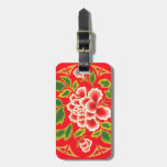 Vintage Decorative Japanese Floral Personalized Tag For Bags