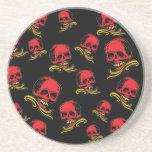 Vintage Decorative Skulls Beverage Coaster
