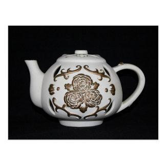 Vintage Decorative Teapot Postcard