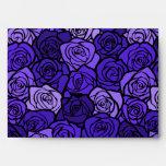 Vintage Deep blue roses Envelope