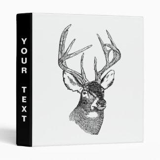 Vintage deer art graphic binder