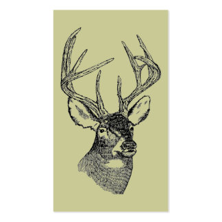 Vintage deer art graphic business card templates