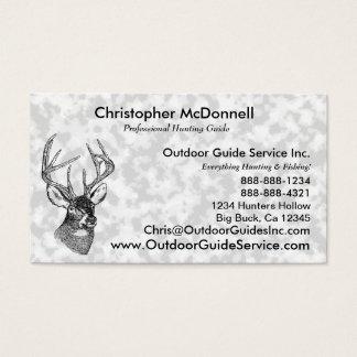 Vintage deer art graphic business card