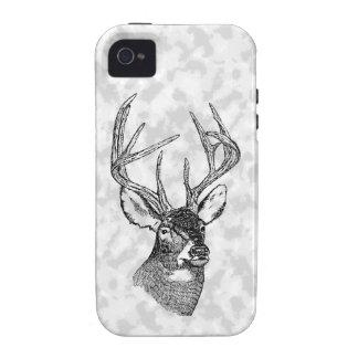 Vintage deer art graphic iPhone 4/4S case