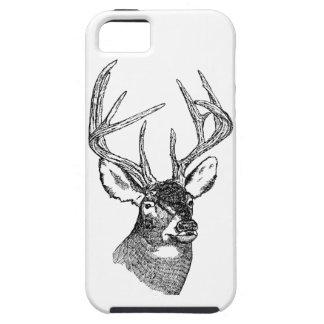 Vintage deer art graphic iPhone SE/5/5s case