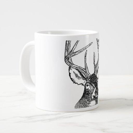 Vintage deer art graphic jumbo mug