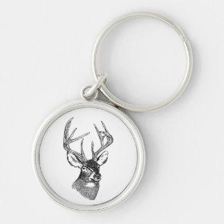 Vintage deer art graphic key chains
