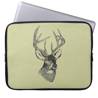 Vintage deer art graphic laptop sleeve