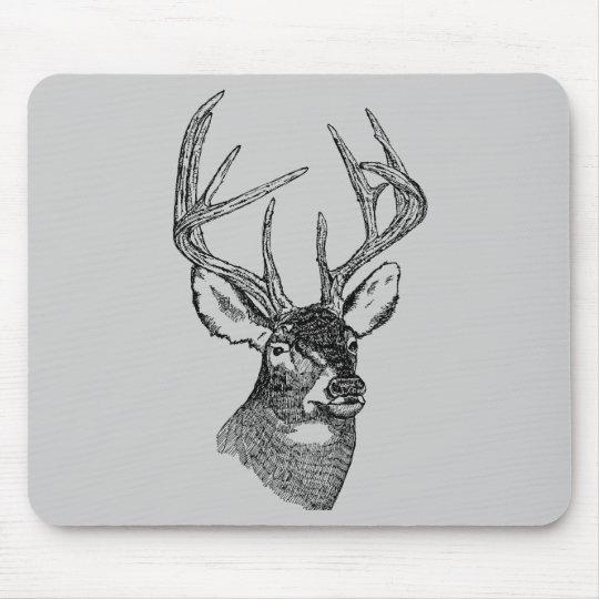 Vintage deer art graphic mouse pad