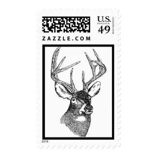 Vintage deer art graphic stamps